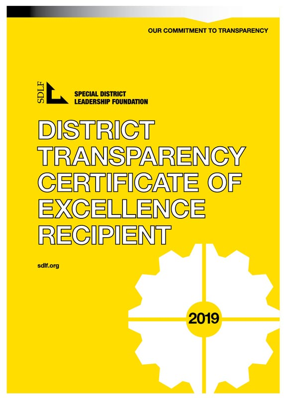 Certificate of Excellence District Transparency 2019